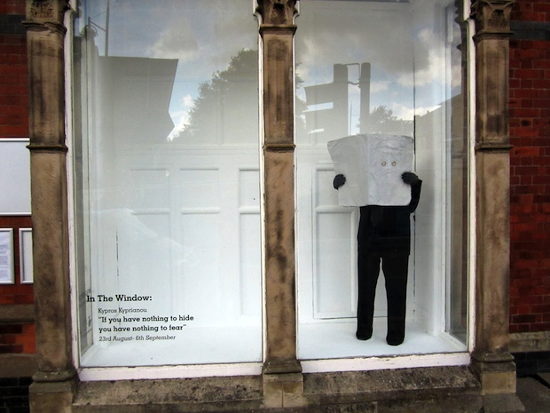 If You Have Nothing To Hide You Have Nothing To Fear: Installation view  Airspace In The Window  Kypros Kyprianou  2014
