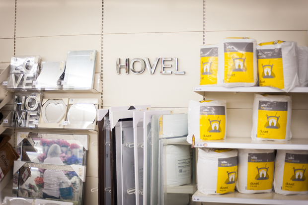 Hovel (installation view): Wilko's mirror packs (LOVE + HOME = HOVEL)