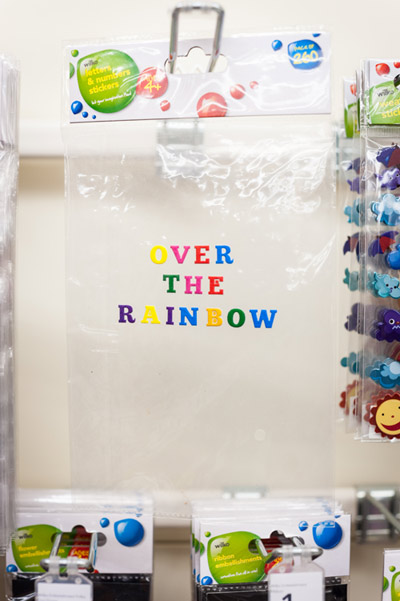 Over The Rainbow: Lettering text (installation view)