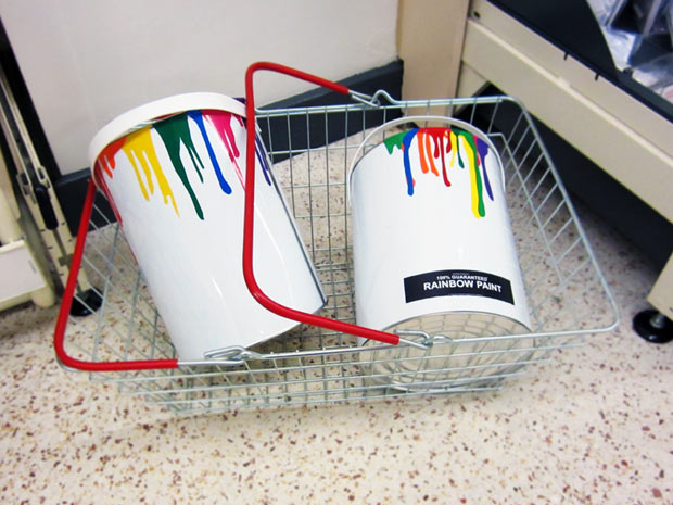Rainbow Paint basket