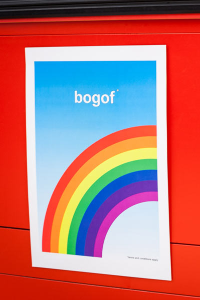 bogof poster (left rainbow)