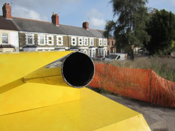 Canary: drainpipe turret