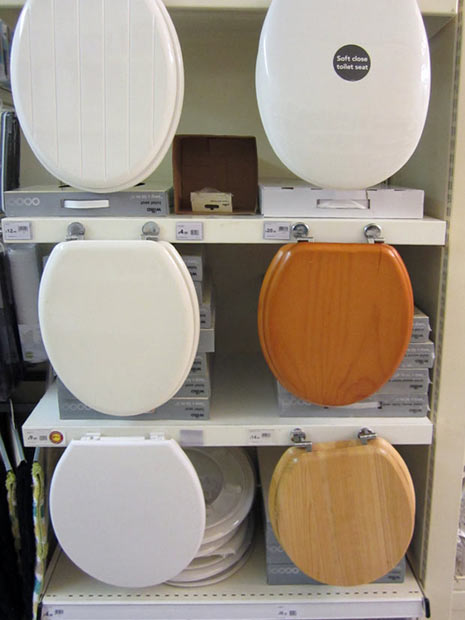 Wilko's toilet seat display